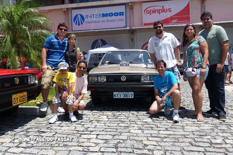 Membros do Passat Clube - RJ marcando presença no evento.