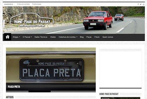 Novo layout da Home-Page do Passat