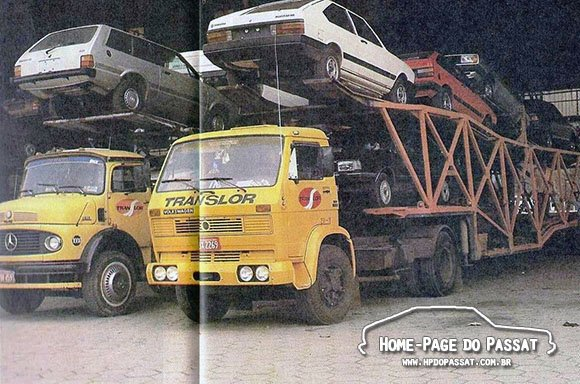 Caminhões cegonha antigos - Translor (1986)