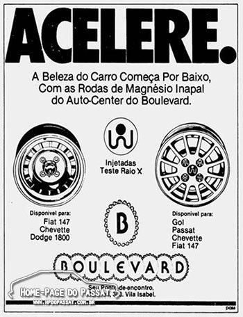 Anúncio das rodas Inapal - 31 de Outubro de 1980
