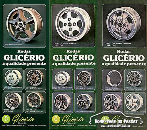 Rodas Glicério - 1980 e 1981
