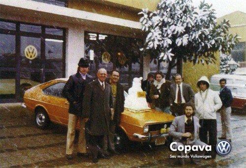 Neve em Curitiba - Concessionária Copasa, 1975