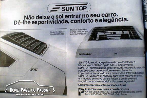 Sun Top - Acessório para o Passat