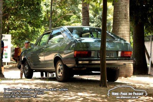 O impecável Passat LS 1982 participando de um evento no final do ano passado.