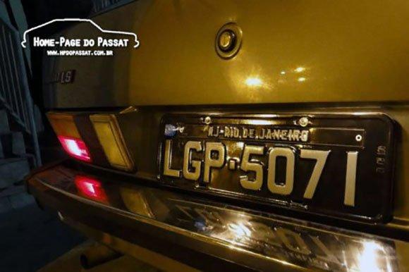Passat LS 1982 placa preta
