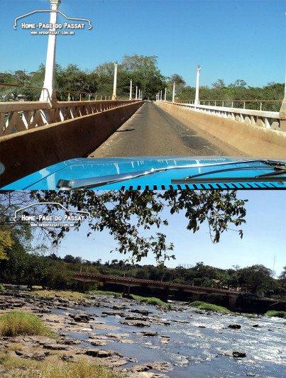 Em Cachoeira de Emas, na ponte Atílio Zero, sobre o rio Mogi Guaçu.