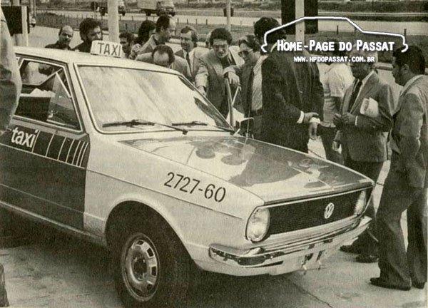 Passat táxi de 4 portas é apresentado em São Paulo, em 1975.