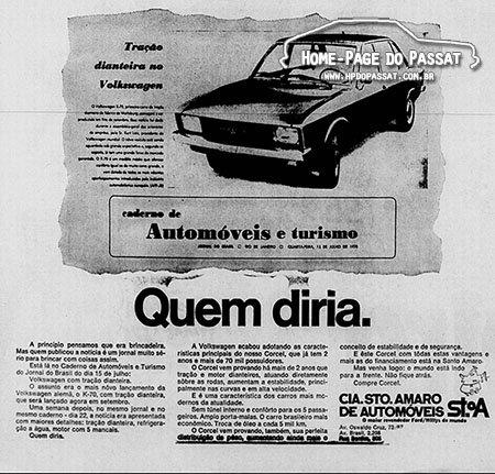 Anúncio da Cia. Santo Amaro (Jornal do Brasil, 2 de agosto de 1970)