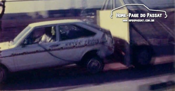 Crash test VW Dasher 1979