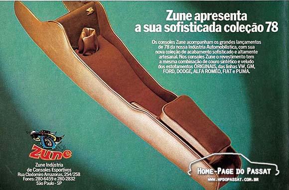 Console Zune, maio de 1978