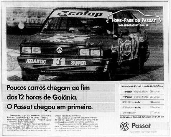 12 Horas de Goiânia 1987 - Passat