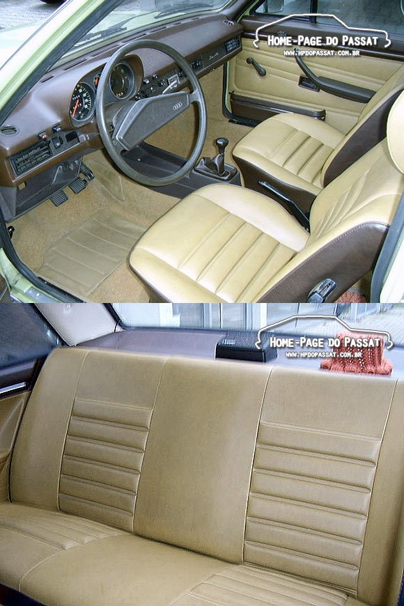 Interior do Audi 80 LS 1976
