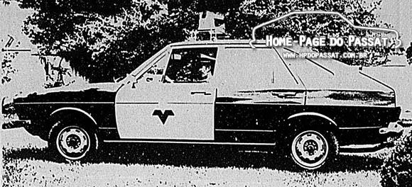 Passat 1975 - Viatura da Polícia Rodoviária do Paraná