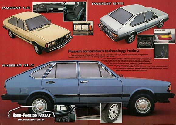 Propagandas do Passat - Catálogo para exportação de 1984