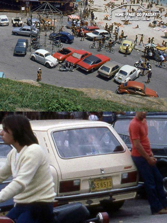 No detalhe das fotos: Camaro, Karmann-Ghia conversível, além de dois Passat, entre outros (acima). Na imagem inferior, a Variant personalizada com o adesivo Surf do Passat.