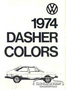 Tabela de cores VW Dasher