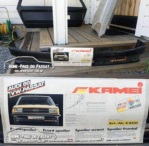 Spoiler alemão para Passat e Audi 80, da marca Kamei