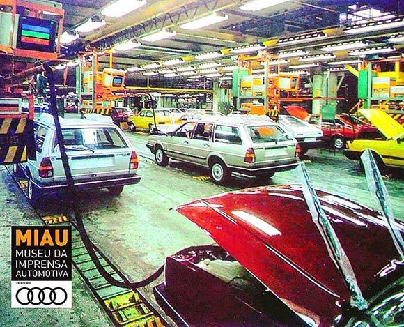 Linha de montagem VW