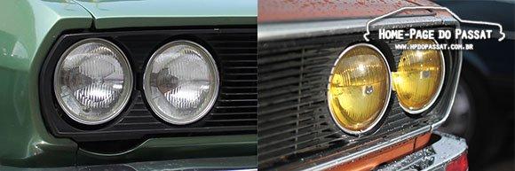 Dois casos de Passat TS legítimos: o verde sem o conjunto de frisos e o cobre com o conjunto montado e o recorte oculto.