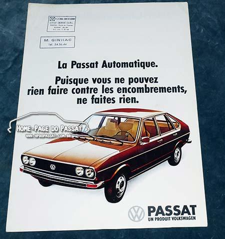 Folder francês sobre o Passat automático