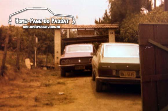 Passat TS Verde Musgo e Chevrolet Opala