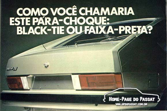 Anúncio de acessórios VW - Limpador traseiro para o Passat