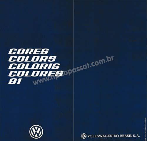 Tabela de Cores VW 1981
